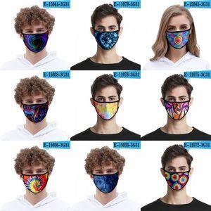 Галстук окрашенного висячая маски для лица 3D мода Печать лед шелк дыхательной маски моющегося пыле Face Mascarilla многоразовых Смешной 2 2mld B2