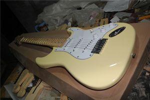 Livraison gratuite ST guitare jaune, 22 frettes, micros SSS, corps en tilleul, manche en érable, touche érable groove, signature Yngwie Malmsteen