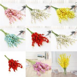 5 Forks Simulación secas flores artificiales flor del color Rich Hotel decoración de boda con plantas fáciles de poner 1 85lk E2