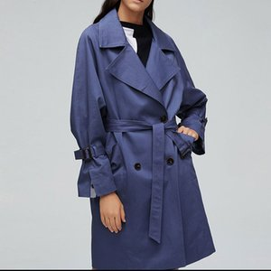 2020 New Autumn Fashion Trench Coat Women Double Breasted Belt Women Coat Trench Streetwear Chic Windbreaker Casaco Abrigo Loose