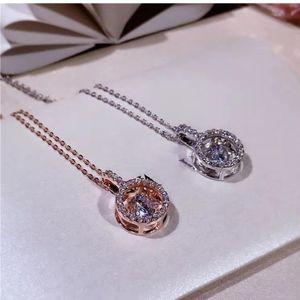 Sólido 925 Sterling Silver Geometric Colar redonda Gemstone pendente para mulheres elegantes Cadeia Choker colares Fine Jewelry