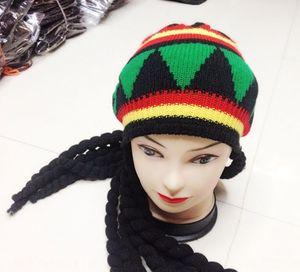 Jamaica black Halloween Jamaica black wig hat Halloween beret Wig beret hat