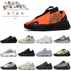 2020 Kanye West 700 V2 pattini correnti degli uomini delle donne di carbonio TEAL blu riflettente corridore onda inerzia Tephra Magnet vanta Analog Static Sneakers
