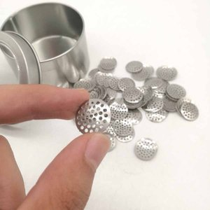 8 mm 12 mm 15 mm 16 mm pantallas de acero inoxidable de tubos de titanio Bowl, filtros de malla para las pipas de fumar tabaco filtro de malla Accesorios DHB717