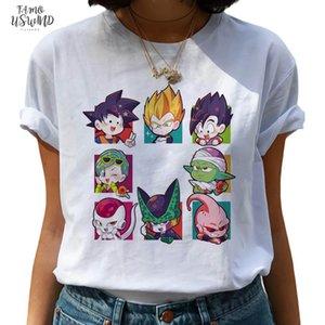 Dragon Ball Z Harajuku Funny T Shirt Women Kawaii Son Goku Anime T Shirt Super Ullzang Tshirt 90S Graphic Top Tees