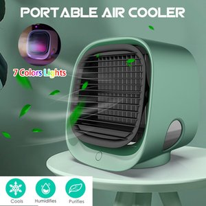 2020New Portable Air Conditioner Multi-function Humidifier Purifier USB Desktop Air Cooler Fan With Water Tank Home Handheld Humidifying Fan