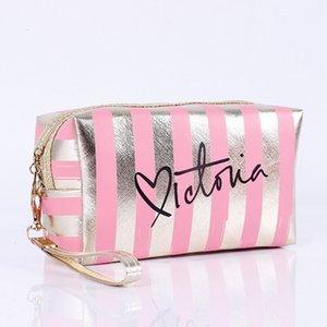 Женщины путешествия Cosmetic Bag Pink Laser Косметика Сумка туалетного Wash Beauty Box Zipper Макияж Сумочка Органайзер для хранения Case Pouches