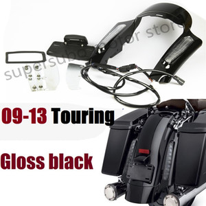 Motorcycle Black Rear Fender Fascia Set For Harley Touring street glide Electra roadking 2009-2013