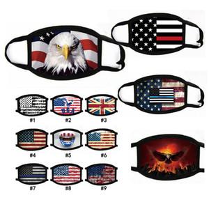 Masques Trump Supplies élection américaine Anti-poussière Imprimer Masque PM2,5 universel coton coupe-vent Masque bouche Drapeau américain