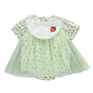 New High Quality Infant Newborn Baby Girls Rompers Summer Lace Baby Girls Clothes DressToddler Girl Jumpsuit Playsuit