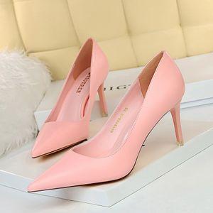 Bigtree New Heels haute minces femmes Escarpins bout pointu peu profondes chaussures de mariée mariage Sexy Ladies Chaussures Femmes Nu High Heels
