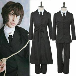 Bungo Stray Dogs Dazai Osamu cosplay costume des hommes Costume Noir Manteau Outfit Uniforme
