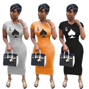 Kadın Tek Parça Elbise Kısa Kollu Yaz Etek Tasarımcı Elbise Maxi-Elbiseler Yüksek Kalite Gevşek Elbise Zarif Lüks Clubwear 4524