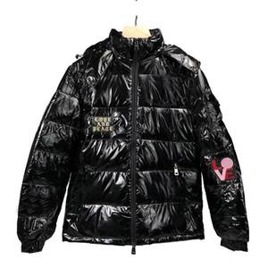 Hommes Down haute qualité Hommes Femmes d'hiver Parka Hip Hop Hommes Desigenr Manteaux d'hiver Noir
