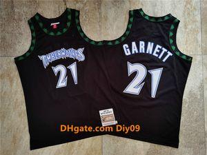Мужчины МиннесотаTimberwolvesКевин Гарнетт Mitchell Ness Black Hardwoods Classicsнба 1997-98 Аутентичные трикотажные изделия