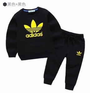 2020 neue Marken-Kinder-Mantel-Kleidung Junge Langarm-Klage-Baby-Kleidung stellte 1-8 Jahre Springflut Anzug Jacke Mantel Pullover Hemden