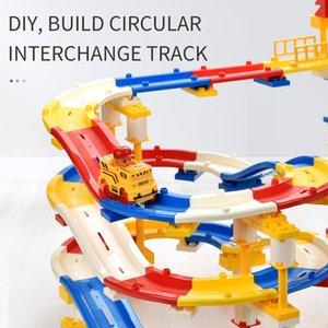 Track Interchange Particules Construction Circulaire Coloré Track Set Play Briques Auto-assemblage Construire des styles de construction Divers 245pcs Blocs plus grand TPJN