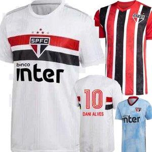 الحجم S-2XL 2020 ساو باولو FC باتو أليف أبيض أبيض بعيدا رجل لكرة القدم الفانيلة هيرنانيس بابلو ساو باولو كرة القدم كاميسا دي فيوتول 20 21