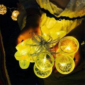 Moda ışık dize yaz meyvesi dekorasyon oda pil kutusu dize ışık limon dilim kız kalp ışık dize 235 led