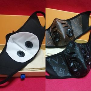 Masken PU Unsiex Leder Gesicht Staubdichtes Atmen Gesichtsmasken Modedesign Männer Frauen Mouth-Muffel Waschbar