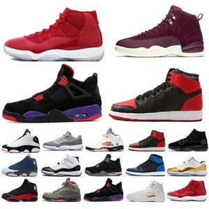 04 Nuevo 2018 para mujer para hombre los niños 11 13 12 4 1 11s 13s 12s 4s 1s Raptors Se puso los zapatos de juego zapatillas de baloncesto