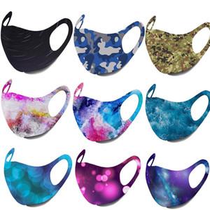 Mode Gesichtsmasken Designer Gesichtsmaske Camouflage Sternenhimmel Sterne Antistaubnebel weichen atmungs Mund facemask