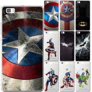 Captain America Case Pour Huawei P9 P10 P20 P8 P30 Lite Plus Maté 10 Pro II Y3 Y6 Y5 Y7 2017 Honor 9 6X 7X Batman Hero Couverture