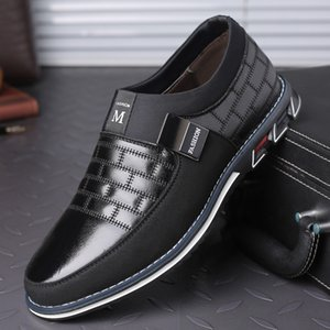 Hot Sale- Genuine Leather Men Casual Shoes 2020 Mens Loafers Moccasins Breathable Shoes Plus Size 38-46