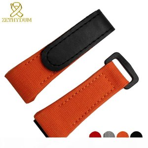 Nylon Watchband Canvas Watch Bracelet 27mm Wristwatches Band Bottom Is Genuine Leather Watch Strap For Rm011 Rm3502 Rm056 Y19052301