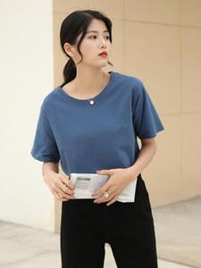 Women T Shirt Top Tee Casual Short Sleeve Gray Tops Women Plus Size White rl9M#