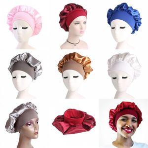Esnek Kırışıklık Şapka İpek Satin Hair bereleri Nightcap Saç Bandı Genişleme Kemer Genişleme Kemer Hat Stretch Renkli 4 6YD C2
