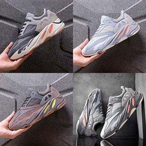 Niños Deporte Kanye West Kanye West 700 700 zapatos para las zapatillas de deporte de los muchachos de los muchachos de malla ligera niñas ocasionales con cordones de Formadores niños de la marca de Breat # 217