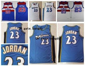Mens Cidade Vintage Washingtonassistentesnba23Michael MJ Edição 2020 Bullets Basketball Jerseys costurado azul branco camisetas
