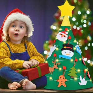AIRTREE 3D DIY Felt presentes Árvore de Natal Criança Ano Novo Kids Brinquedos Artificial árvore de Natal decoração de casa Ornamento de suspensão Decoração ZJ8E #