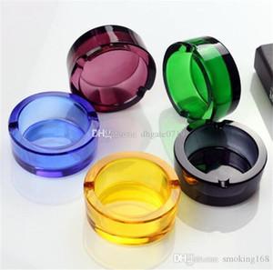 Dickes Glas Kristallaschenbecher Personality handgemachte Mini Quadrat Kreis Glas Aschenbecher Home Hotel Bar Ornament