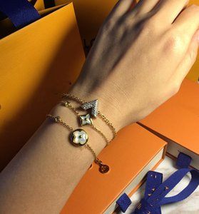 Designer Gold Bracelets Jewelry For Women High Quality 18K Gold Plated 316L Titanium steel Rhinestones Silver bracelets Gifts
