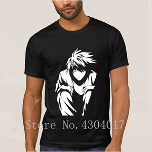 L Death Note T Shirt For Men Short Sleeve Custom Anti-Wrinkle Tshirt Solid Color Hombre Plus Size 3xl Slogan Top Tee