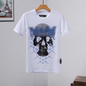 hombre del diseñador de camisetas para hombre de la camiseta del cráneo de alta calidad de la impresión t shirt camiseta bolso calcetines rojos de tacón inferiores Phillip Phillip llano llano yy67
