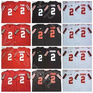 College Ohio State Buckeyes Football 2 J. K. Dobbins Jersey 2 Chase Young University Uniform Breath Stickerei und vernäht Rot Schwarz