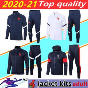 2020 2021 FRANCE длинный рукав футбол куртки костюм survetement 20/21 Франция MBAPPE Майо-де-футовый футбол спортивный костюм бег трусцой