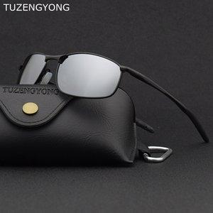 TUZENGYONG HD uomini polarizzati degli occhiali da sole 2020 del progettista di marca telaio in lega di Mens di guida Occhiali da sole UV400 Occhiali