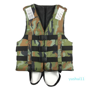 Wholesale-Tear-resistant Oxford Camouflage Life Jacket Water Rescue Swimming Boating Buoyancy Life Vest Safety First