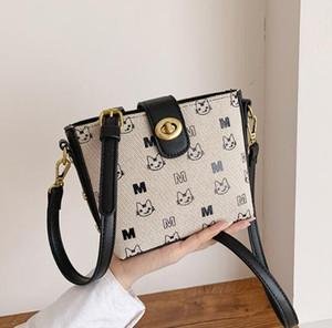 Ins Bucket Bag Frauen Schultertasche Nette Katzen-Dame Kleine Handtaschen Mode Weibliche Geschenk-Reise