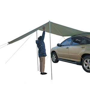 300*200cm Portable Car Side Awning Rooftop Tent Sun Shelter Shade SUV Camping Canopy Outdoor Travel Hiking Tents Accessories Kit