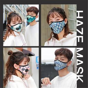 Máscara Facial com a respiração Aspirador Válvula várias cores mutável filtro Máscara Pads Dustproof pano de protecção com pacote de varejo BWD506