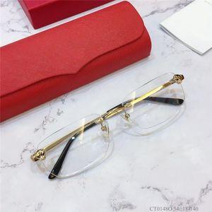 Los más solicitados y gafas de estilo de negocios marco de la cabeza del leopardo del marco ultra ligero de los vidrios ópticos hombres vidrios de calidad superior 0148