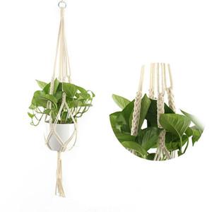 Plante Hangers macramé corde Pots Porte-corde Tenture Jardinière suspendue Panier Détenteurs de plantes d'intérieur Flowerpot panier