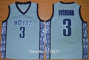 Mens College 3 Allen Iverson Jersey Men Sale Sports Georgetown Hoyas Basketball Jerseys Uniforms Stitched Blue Black Gray Ncaa