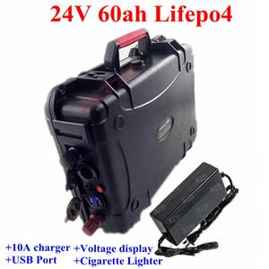 GTK24V 60AH Lifepo4 литиевая батарея оборудование 8s BMS для инвертора RV EV солнечная панель безопасности Туристический катер + 10A зарядное устройство
