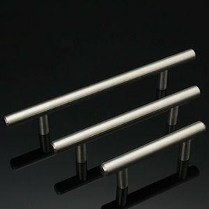 T Tipo de Gabinete alças de aço inoxidável Armário Porta gaveta puxa Roupeiro Shoe Cozinha Gabinetes de cozinha Acessórios DHF1729